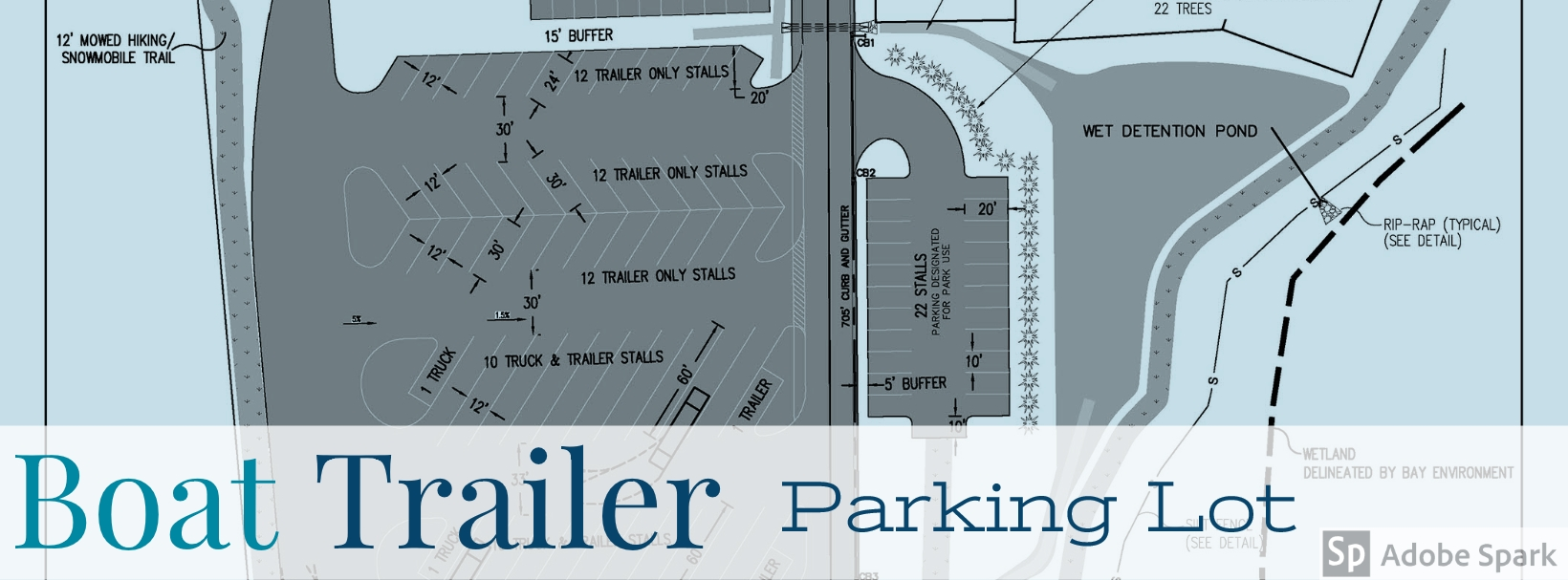 Boat Trailer Parking Lot Banner
